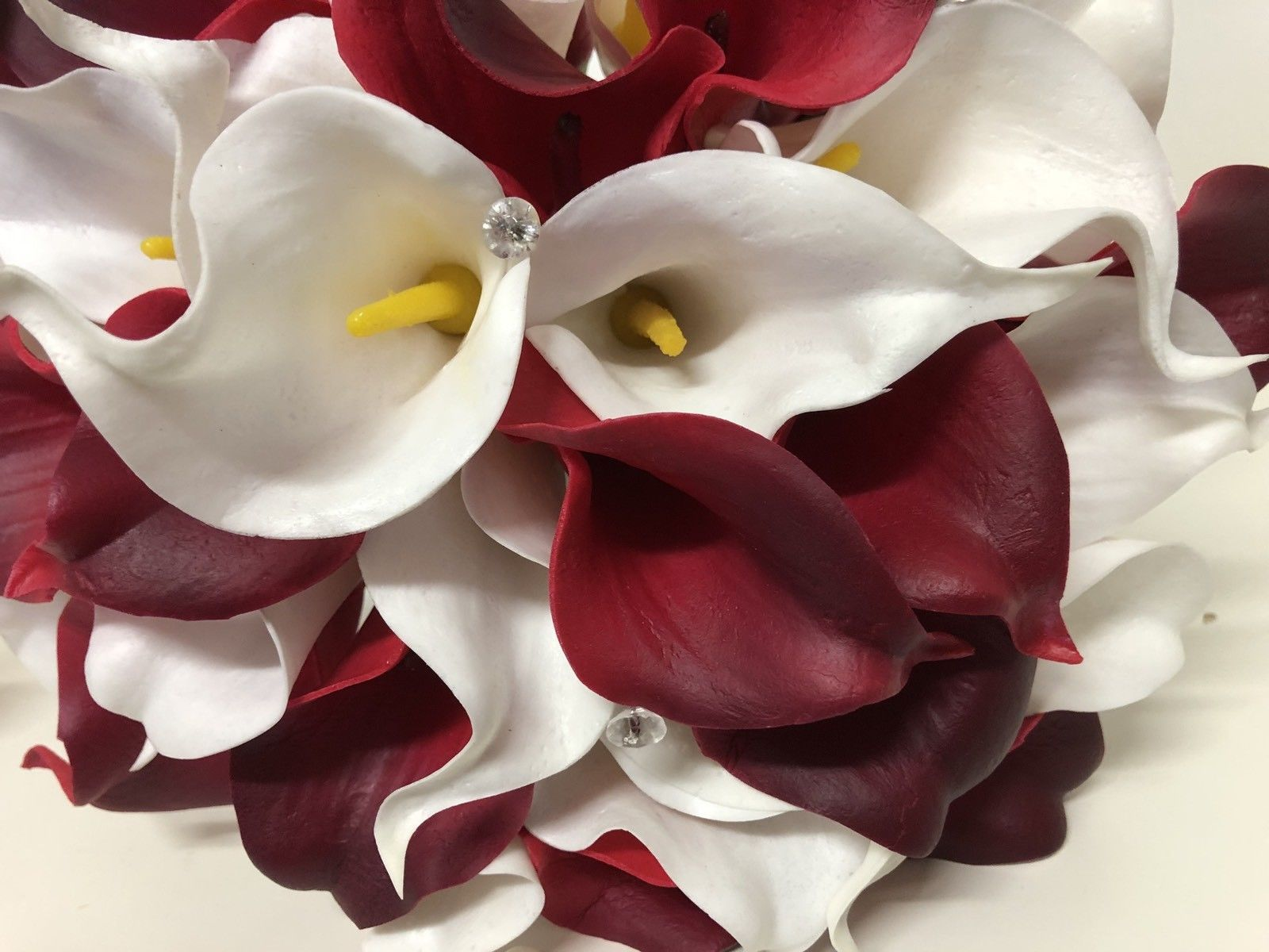 Wedding flowers artificial calla lily bride bouquet white dark red wedding flowers artificial calla lily bride bouquet white dark red burgundy izmirmasajfo